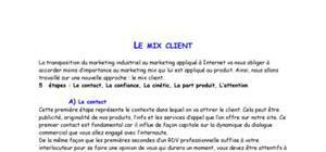 E-marketing : Le Mix Client
