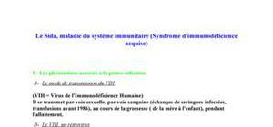 Le sida, maladie du système immunitaire