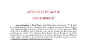 Jacques le fataliste - Denis Diderot