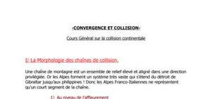 Convergence et collision le cas des Alpes