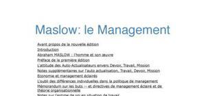 MASLOW et le management
