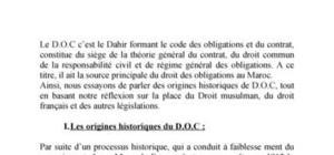 La place de D.O.C (code des obligations et du contrat)