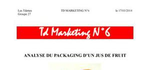 Analyse du packaging du jus de fruit de la marque Fruité