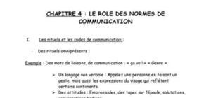 Le rôle des normes de communication