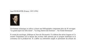 Biographie de l'économiste Jean Fourastie