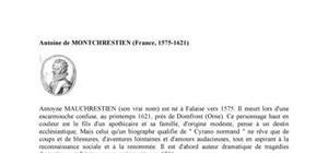 Biographie de l'économiste Antoyne de Montchretien