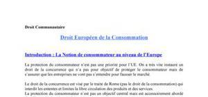 Droit européen de la consommation