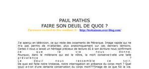 Faire son deuil de quoi? par Paul Mathis