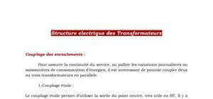 Electrotechnique - Structure électrique des transformateurs
