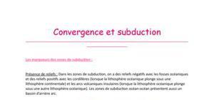 Convergence et subduction (Tle S)