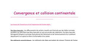 Convergence et collision continentale (Tle S)