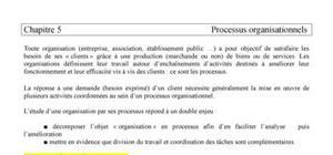 Chapitre 5 : processus organisationnels