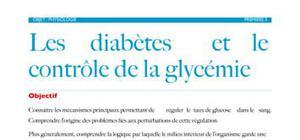 Physiologie: les diabètes et le contrôle de la glycémie