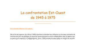 La confrontation Est-Ouest de 1945 à 1975