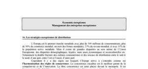 Les stratégies européennes de distribution