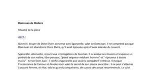 Dom Juan de Molière - Actes I à V