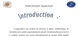 Gestion de projet : équipe projet