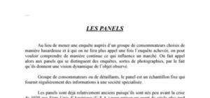 Les panels, outils d'étude