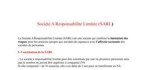 Société A Responsabilité Limitée (SARL)