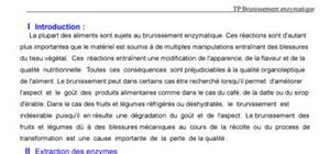 TP brunissement enzymatique
