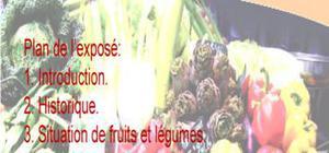 Le marché des fruits et legumes