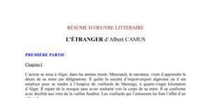 """Résumé chapitre par chapitre de """"l'étranger"""" d'Albert Camus"""