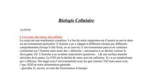 Biologie cellulaire : la cellule