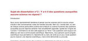Corrigé sujet bac S philo 2009 dissertation