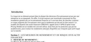 Modèle d'évaluation des actifs financiers (medaf)