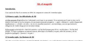 Explication texte : Ali el magrebi