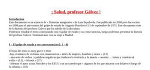 Explication de texte : Salud Profesor Galvez