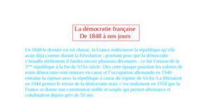 La démocratie française de 1848 à nos jours