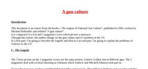 Explication texte : A gun culture