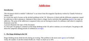 Explication texte : Addiction