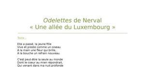 """Lecture analytique sur """"Une allée du Luxembourg"""" de Nerval"""