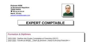 CV d'un expert comptable