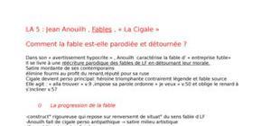 """""""La cigale"""" , Fables, Jean Anouilh"""