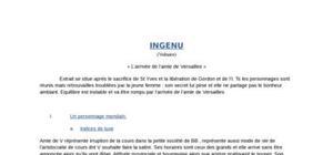 L'Ingenu - Arrivée de l'amie de Versailles