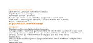 """Lecture Analytique Molière """"L'avare"""""""