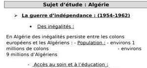 Sujet d'étude l'Algerie