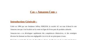 Etude de Cas « Amazon.Com »