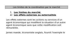 Les limites de la coordination par le marché