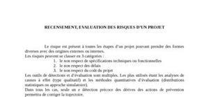 Recensement et évaluation des risques d'un projet