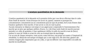 L'analyse quantitative de la demande