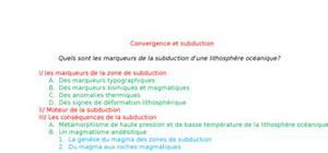 Convergence et subduction