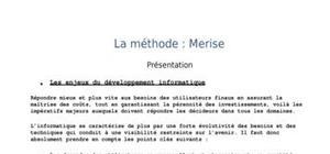 Méthode informatique Merise2