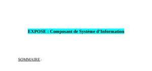 Composant d'un Système d'Information