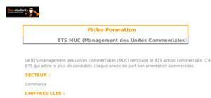 BTS MUC (Management des Unités Commerciales)