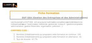 DUT GEA (Gestion des Entreprises et des Administrations)