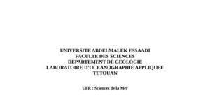Le littoral entre tanger et assilah : etude biologique